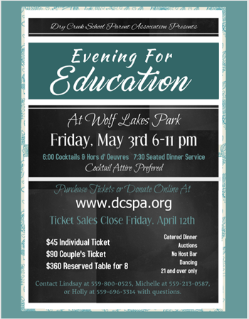 Evening for Education Flier