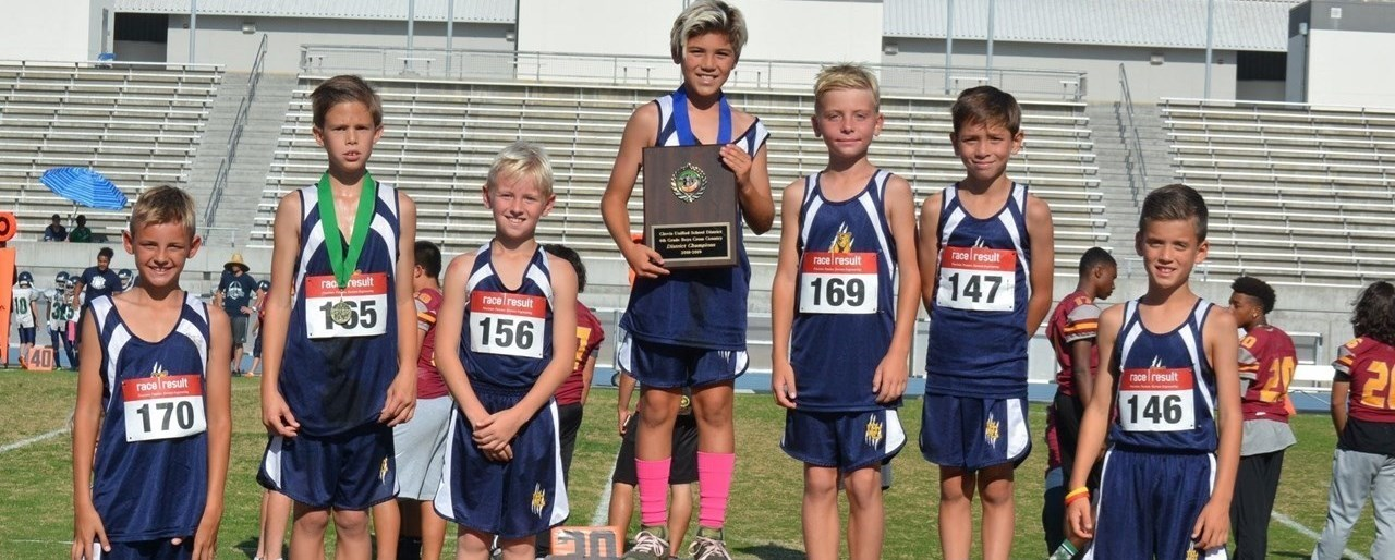 Cross Country Champions at District Meet